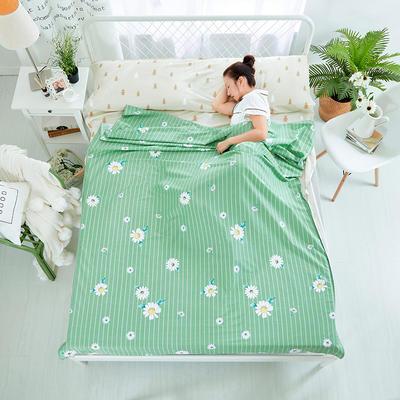 纯棉隔脏睡袋 小雏菊-绿80*230cm