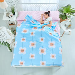 纯棉隔脏睡袋 花之恋-蓝120*230cm