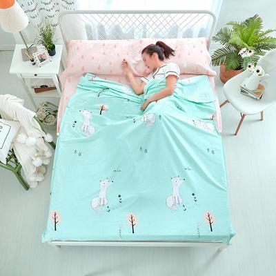 纯棉隔脏睡袋 至尊萌宝-绿120*230cm