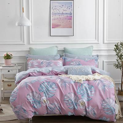 爆款纯棉12868印花四件套网红款全棉三件套宿舍学生床被罩多规格可选 1.5m床四件套 花间舞-粉