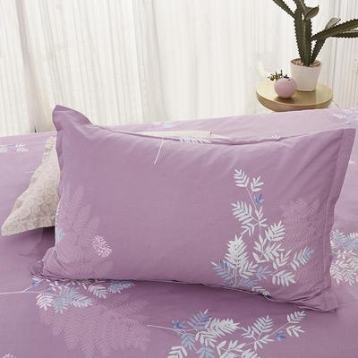 2020新款全棉印花单品枕套 48cmX74cm/对 挪威森林-豆沙