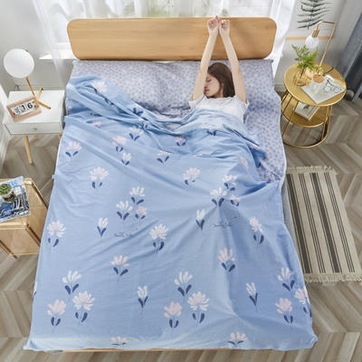 2020新款纯棉隔脏睡袋 菱花秋水80*230cm