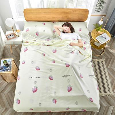 2020新款纯棉隔脏睡袋 草莓甜心120*230cm
