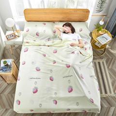 2020新款纯棉隔脏睡袋 草莓甜心160*230cm