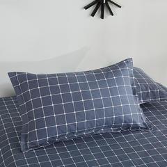 2020新款全棉印花单品枕套 48cmX74cm/对 格韵-灰