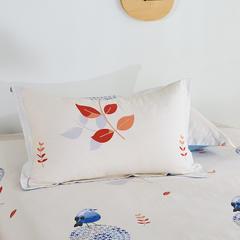2020新款全棉印花单品枕套 48cmX74cm/对 鸟语花香