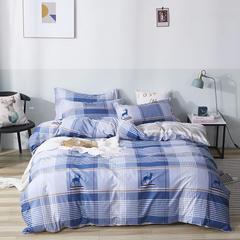 爆款纯棉12868印花四件套网红款全棉三件套宿舍学生床被罩多规格可选 1.2m床三件套 鹿先森