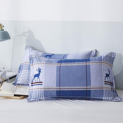 2020新款全棉印花单品枕套 48cmX74cm/对 鹿先森