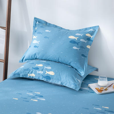 2020新款全棉印花单品枕套 48cmX74cm/对 海洋生活