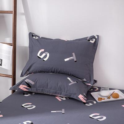 2020新款全棉印花单品枕套 48cmX74cm/对 文艺青年