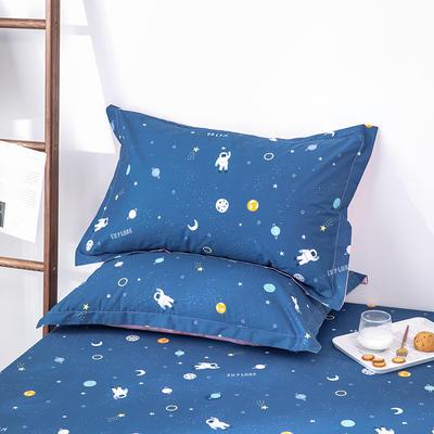 2020新款全棉印花单品枕套 48cmX74cm/对 宇航员