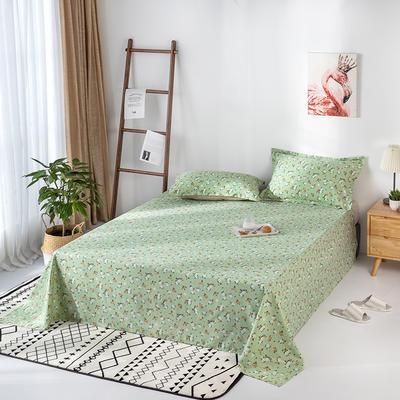 2020新款全棉印花单品床单 160cmx230cm 薇香-绿