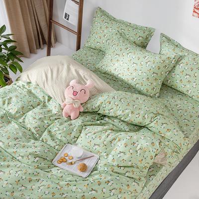 2020新款全棉印花单品被套 150x200cm 薇香-绿