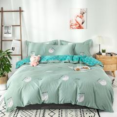 热款纯棉12868印花四件套网红款全棉三件套宿舍学生床被罩多规格可选 1.2m床三件套(1.5m被套) 绿野仙踪