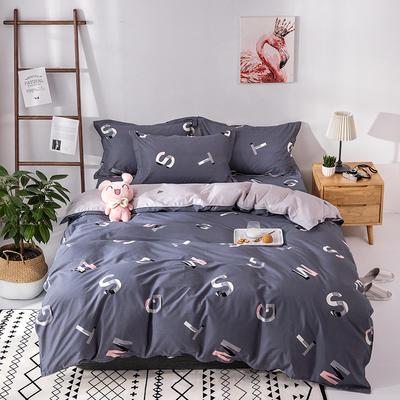 热款纯棉12868印花四件套网红款全棉三件套宿舍学生床被罩多规格可选 1.2m床三件套(1.5m被套) 文艺青年