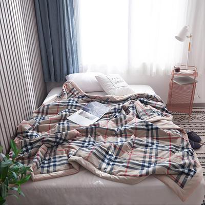 2019新款全棉色织水洗棉夏被 150x200cm 金典格