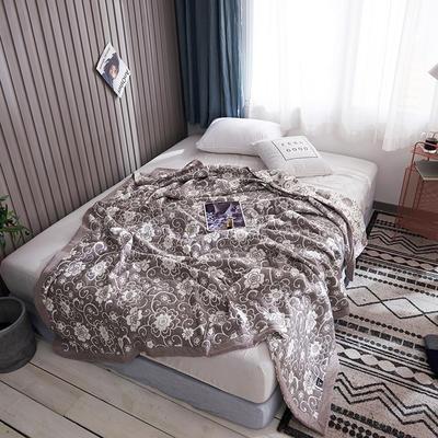 209新款三层纱夏被盖毯 150x200cm 花魅之都