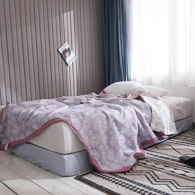 209新款三层纱夏被盖毯 150x200cm 太阳花