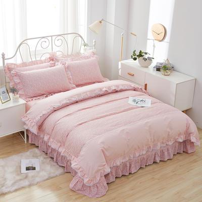 韩式小蕾丝款花边四件套系列 2.0m(6.6英尺)床 佳期如梦