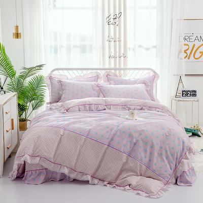 韩式小蕾丝款花边四件套系列 1.8m(6英尺)床 珍妮-粉