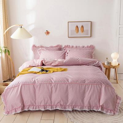 韩式纯棉田园碎花小蕾丝款花边四件套系列 1.5m(5英尺)床 佳期如梦