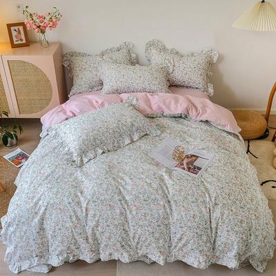 2021新款纯棉韩式复古抽象套件系列 1.5m床单款四件套 爱丽丝