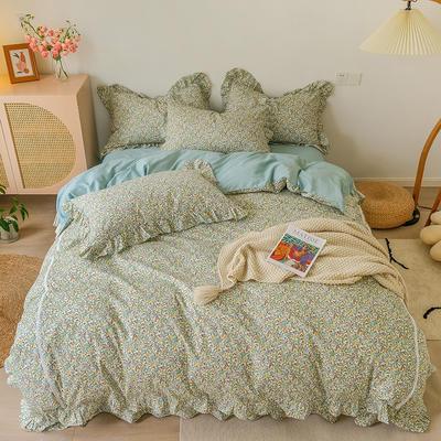 2021新款纯棉韩式复古抽象套件系列 1.5m床单款四件套 轻语彩云