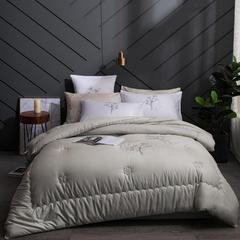 现代轻奢简约 40支全棉小提花冬被-格利特 200X230cm7斤 灰色