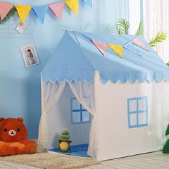 2018儿童游戏屋分床神器游戏帐篷婴童玩具小房子系列 110cm*80cm*120cm 蓝色小房子