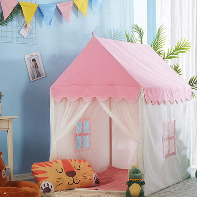 2018儿童游戏屋分床神器游戏帐篷婴童玩具小房子系列 110cm*80cm*120cm 粉色小房子+配套棉垫