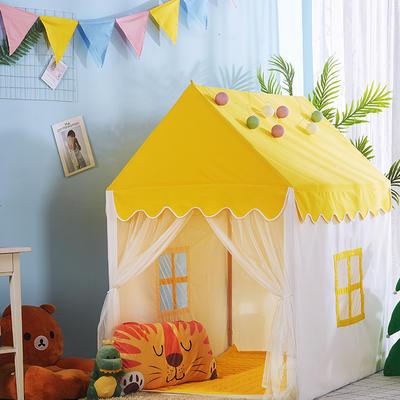 2018儿童游戏屋分床神器游戏帐篷婴童玩具小房子系列 110cm*80cm*120cm 黄色小房子