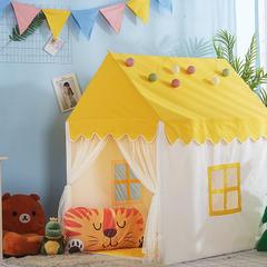 2018儿童游戏屋分床神器游戏帐篷婴童玩具小房子系列 110cm*80cm*120cm 黄色小房子+配套棉垫
