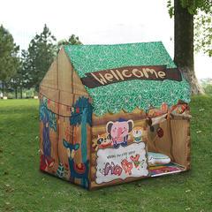 2018儿童游戏屋分床神器游戏帐篷婴童玩具卡通印花系列 100cm*70cm*110cm 绿色森林