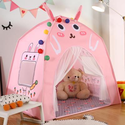 卡通动物儿童帐篷儿童玩具屋分床神器小房子室内游戏乐园 130cm*100cm*130cm 小兔子