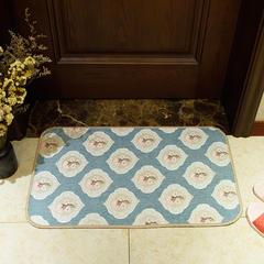 2018新款欧式雪尼尔地垫厨房垫地毯 40*60cm 梅花长垫-果绿