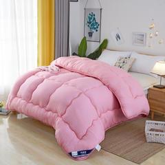 (总) 2018新款加厚保暖冬被系列 磨毛压花棉被子 150X200cm/4斤 粉色