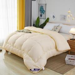 (总) 2018新款加厚保暖冬被系列 磨毛压花棉被子 100x150cm/2斤 米黄