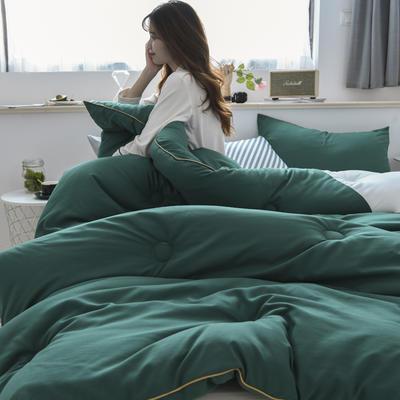 2019新款时尚轻奢系列(双拼冬被) 150*200  4斤 墨绿白
