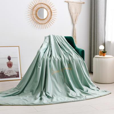 2020新款水洗臻丝绣花款夏凉被6色 150x200cm 薄荷绿