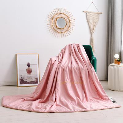 2020新款水洗臻絲繡花款夏涼被6色 150x200cm 藕荷粉