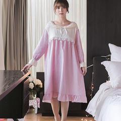 2018新款裙装粉色条纹裙家居服 均码 1