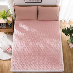 2018新款四季多功能软床垫水晶绒磨毛 1.5x2.0m 粉玉