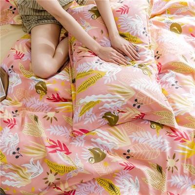 2019新款-少女梦~13372甄选系列/减龄升级版卡通系列四件套 (床笠款+10元) 1.2m(4英尺)床 树懒