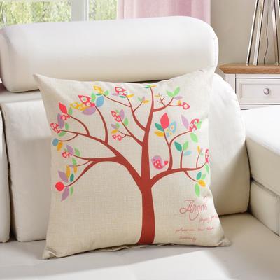 棉麻抱枕-植物系列 45x45cm D2