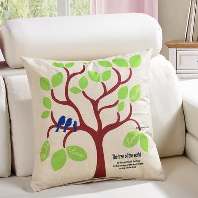 棉麻抱枕-植物系列 45x45cm D5