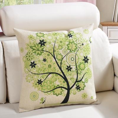 棉麻抱枕-植物系列 45x45cm D6