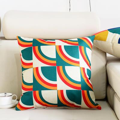 棉麻抱枕-图文系列 45x45cm P1