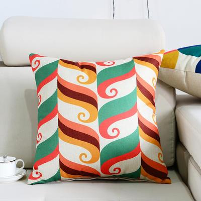 棉麻抱枕-图文系列 45x45cm P4