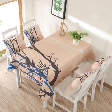 2018-棉麻混纺印花桌布