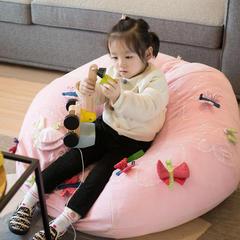 sweet同款懒人沙发 95*45cm 蝴蝶粉色